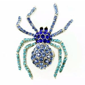 Just In! Cool Crystal Spider 🕷 Brooch 🕷!